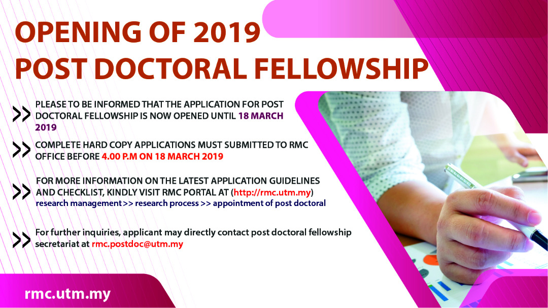 Application for Post Doctoral Fellowship